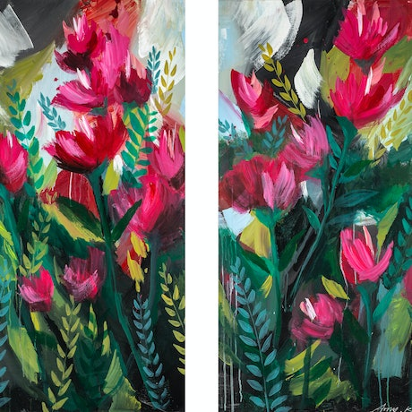 (CreativeWork) Let it bloom by Amy Kim. Acrylic Paint. Shop online at Bluethumb.