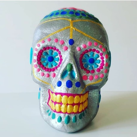 (CreativeWork) Clubbed To Death by Pascale Garlinge. Acrylic Paint. Shop online at Bluethumb.