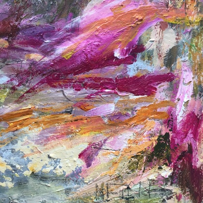 (CreativeWork) Flows to Sea by Nicole Fearfield. Acrylic Paint. Shop online at Bluethumb.
