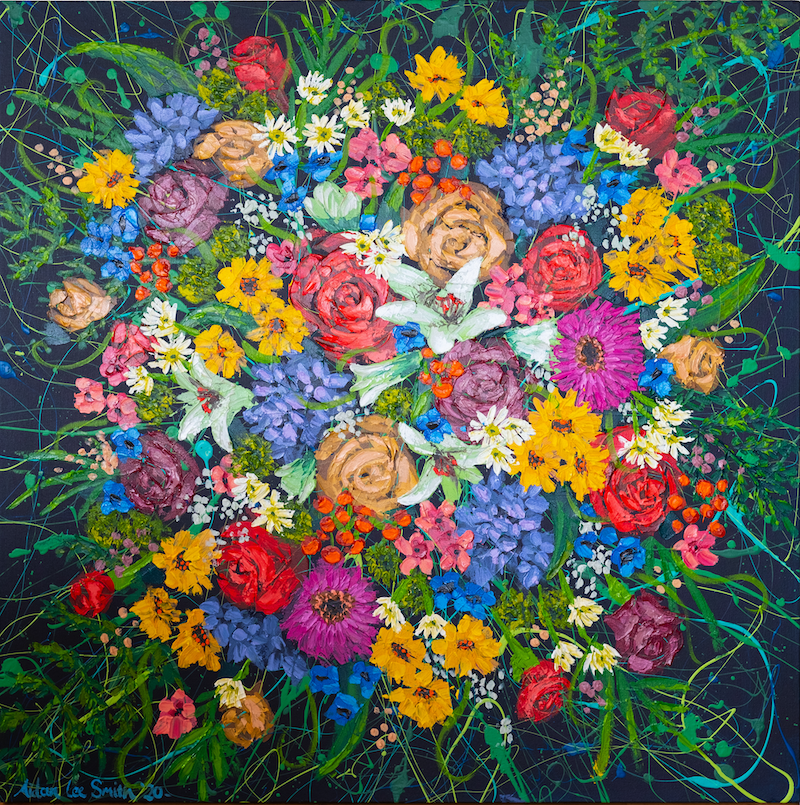 (CreativeWork) Doom and Bloom by Aidan Smith. Acrylic Paint. Shop online at Bluethumb.
