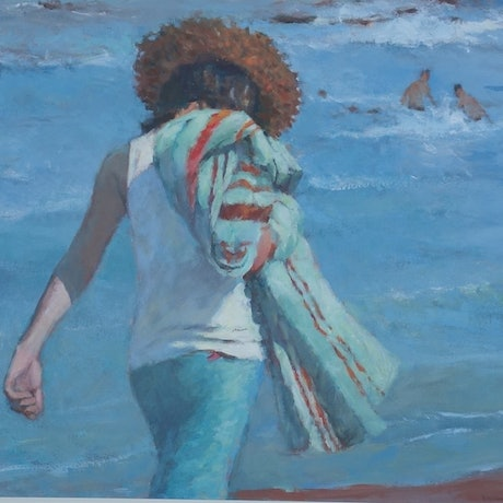 (CreativeWork) Morning Walk by Lorraine Lewitzka. Acrylic Paint. Shop online at Bluethumb.