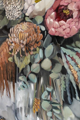 (CreativeWork) Botanic Bounty by Sam Suttie. Oil Paint. Shop online at Bluethumb.