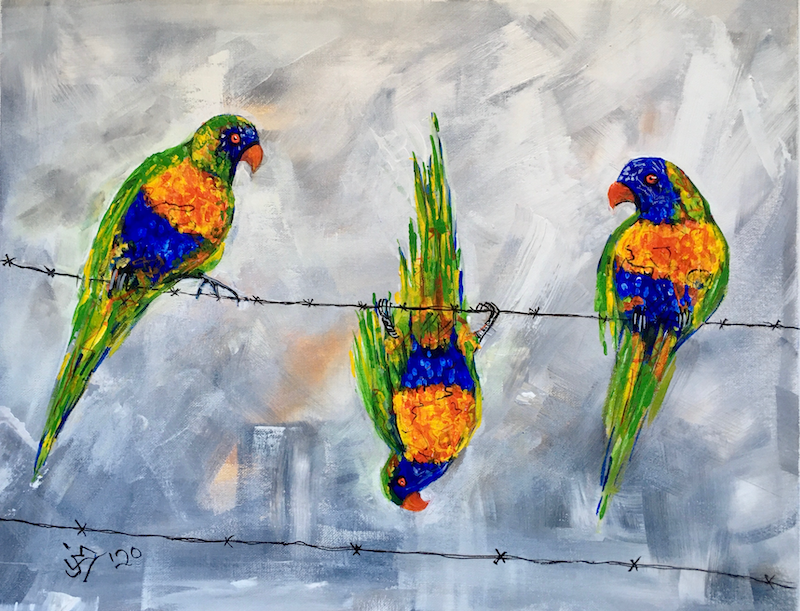 (CreativeWork) The Odd One Out by Jenny Mounfield. Acrylic Paint. Shop online at Bluethumb.