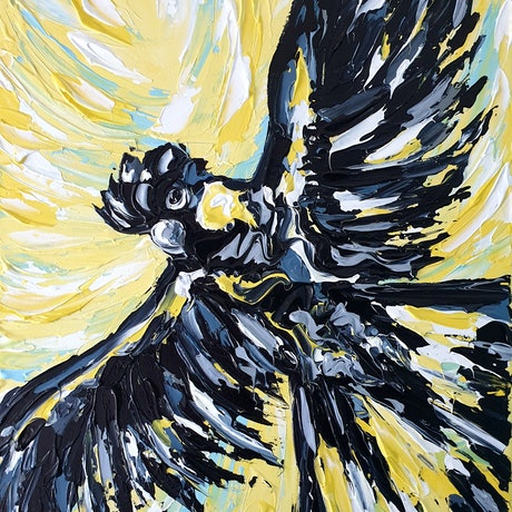 (CreativeWork) The Uplifting Freedom of Flight by Lisa Fahey. Acrylic Paint. Shop online at Bluethumb.