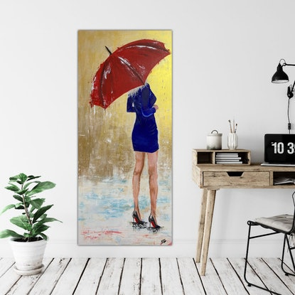 (CreativeWork) Louboutin Lady by Tom Roso. Acrylic Paint. Shop online at Bluethumb.