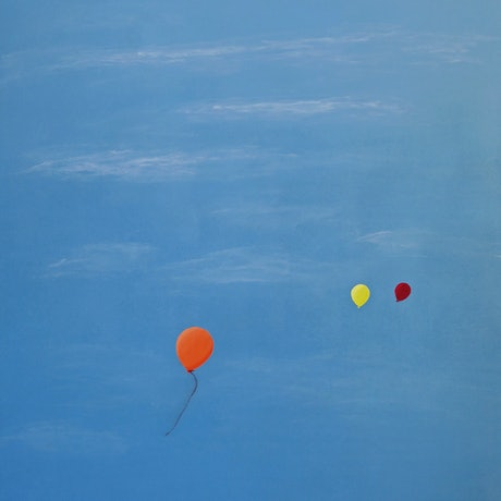 (CreativeWork) Balloons by Barry Johnson. Acrylic Paint. Shop online at Bluethumb.