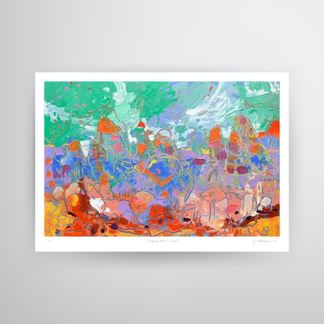 (CreativeWork) Hanging Rock Vivid - A3 Print Ed. 1 of 50 by Joseph Villanueva. Print. Shop online at Bluethumb.