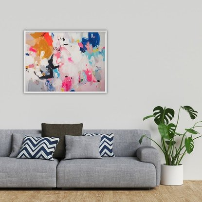 (CreativeWork) Three Words (Includes Framing) by Tulika Das. Acrylic Paint. Shop online at Bluethumb.
