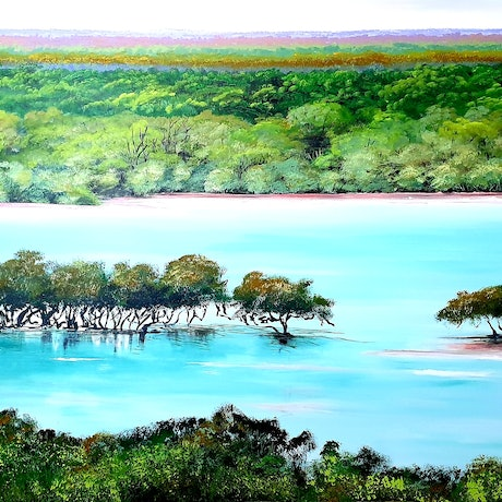 (CreativeWork) Roebuck, Broome WA by Heather Murchie. Acrylic Paint. Shop online at Bluethumb.