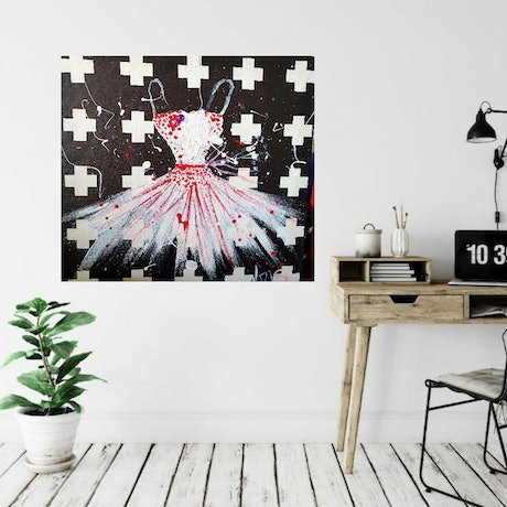 """(CreativeWork) """"DANCER"""" by Krissy McDougall. Acrylic Paint. Shop online at Bluethumb."""