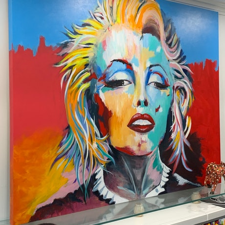 (CreativeWork) Marilyn by Tom Roso. Acrylic Paint. Shop online at Bluethumb.