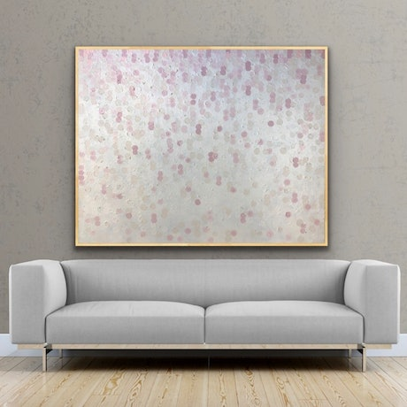 (CreativeWork) On sale Pearly queen 153x122 framed large textured abstract  by Sophie Lawrence. Acrylic Paint. Shop online at Bluethumb.