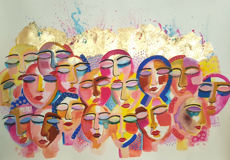 (CreativeWork) SOLIDARITY - Request Commission by Amani Haydar. Mixed Media. Shop online at Bluethumb.