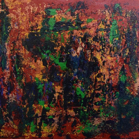 (CreativeWork) Emeralds by Ric Connors. Acrylic Paint. Shop online at Bluethumb.