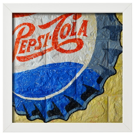 (CreativeWork) 'Pepsi #1'  by Donovan Christie. Acrylic Paint. Shop online at Bluethumb.
