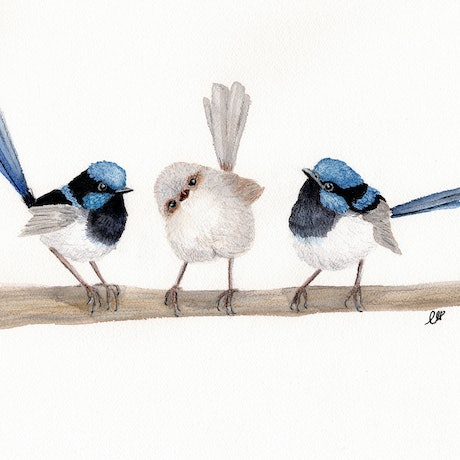 (CreativeWork) The Third Wheel by Kathryn Price. Mixed Media. Shop online at Bluethumb.