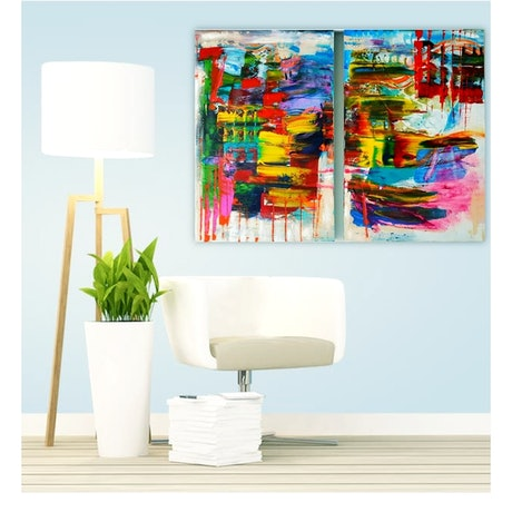 (CreativeWork) Tropical Extravaganza by Basia Kilian. Acrylic Paint. Shop online at Bluethumb.