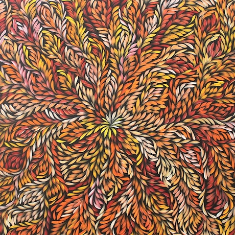 (CreativeWork) COMMISSION BUSH MEDICINE LEAVES PAINTING BY LOUISE NUMINA by Louise Numina. Acrylic Paint. Shop online at Bluethumb.