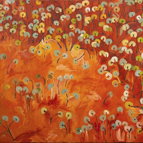 (CreativeWork) Ochre Pits II by Michael Wolfe. Acrylic Paint. Shop online at Bluethumb.