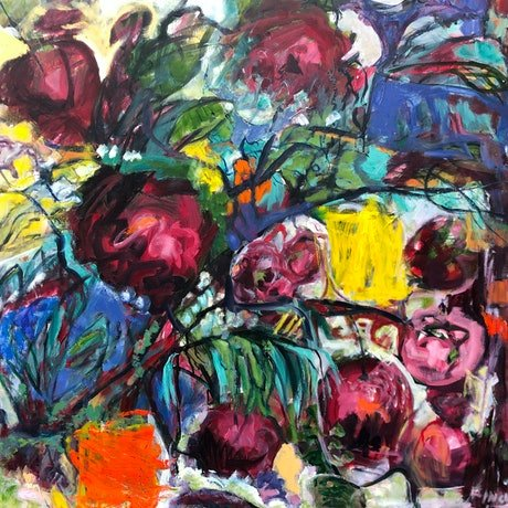 (CreativeWork) BERRIES by Maureen Finck. Oil Paint. Shop online at Bluethumb.