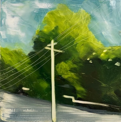 (CreativeWork) Strolling in Suburbia  by Tym Yee. Oil Paint. Shop online at Bluethumb.