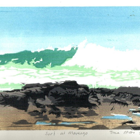 (CreativeWork) Surf at Marengo Ed. 2 of 8 by Tina Moore. Print. Shop online at Bluethumb.