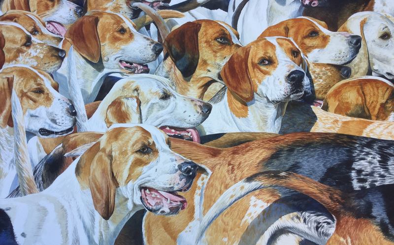 (CreativeWork) The Oakville Hounds by Jason Roberts. Watercolour Paint. Shop online at Bluethumb.