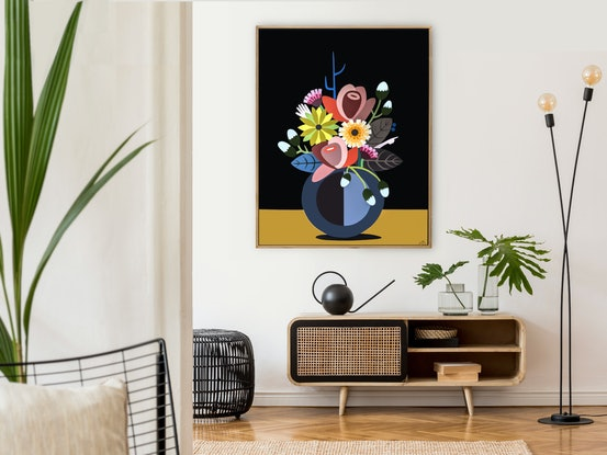 (CreativeWork) Still Life No.49 - Dedicated to Frida Kahlo by Andria Beighton. Acrylic Paint. Shop online at Bluethumb.