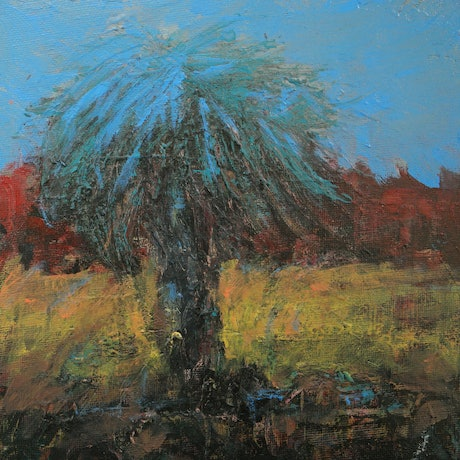 (CreativeWork) One tree  a2 by andrew neilan (naylan). Acrylic Paint. Shop online at Bluethumb.