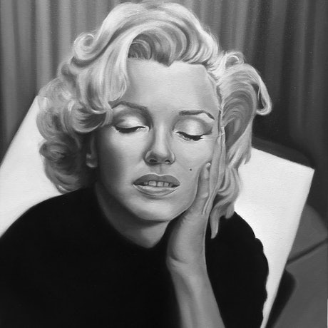 (CreativeWork) Marilyn Monroe by Jeremy Bianco. Oil Paint. Shop online at Bluethumb.