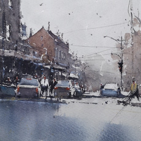 (CreativeWork) the same morning by jianqiang xu. Watercolour Paint. Shop online at Bluethumb.