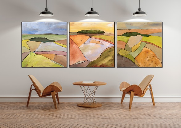 (CreativeWork) Soft Days - Sutton Grange II by Michael Wolfe. Acrylic Paint. Shop online at Bluethumb.