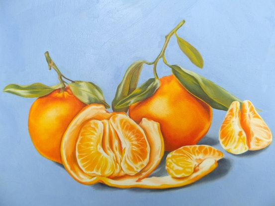 (CreativeWork) Mandarin Still Life by Marija Skroza. Oil Paint. Shop online at Bluethumb.