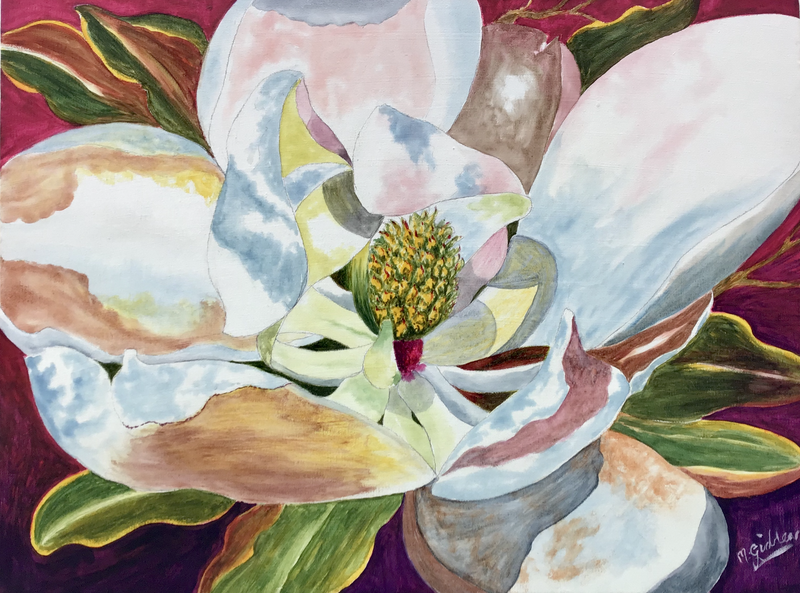 (CreativeWork) White Magnolia  by Michael Giddens. Watercolour Paint. Shop online at Bluethumb.