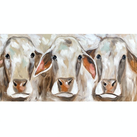 (CreativeWork) Bovine beauties  by Amanda Brooks. Acrylic Paint. Shop online at Bluethumb.
