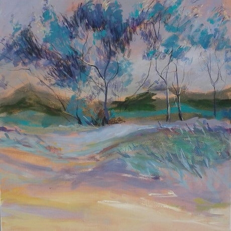 (CreativeWork) Coastal Vegetation by Maggie Cross. Acrylic Paint. Shop online at Bluethumb.