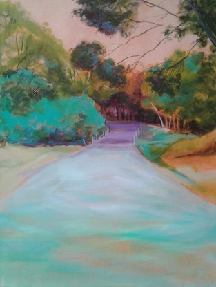 (CreativeWork) Country Road by Maggie Cross. Acrylic Paint. Shop online at Bluethumb.