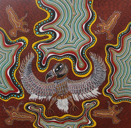 (CreativeWork) The Eagle by Janine Gray. Acrylic. Shop online at Bluethumb.