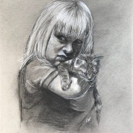 (CreativeWork) Please, Can I Keep Him? by Kathryn Price. Drawings. Shop online at Bluethumb.