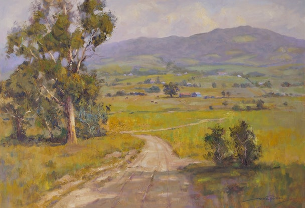 (CreativeWork) Country View Kiama NSW (1118) by Marc Poisson. Oil. Shop online at Bluethumb.