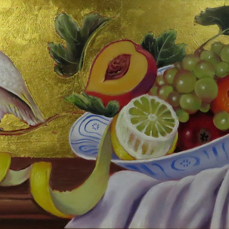 (CreativeWork) Temptation by Rob Davis. Oil Paint. Shop online at Bluethumb.