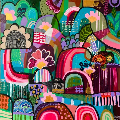 (CreativeWork) Jungle Jam  by Sandra Oost. Mixed Media. Shop online at Bluethumb.
