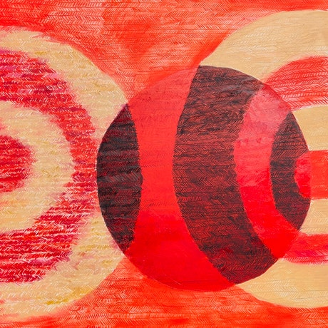 """(CreativeWork) Abstract #4 """"Japan""""  by Rebecca Read. Oil Paint. Shop online at Bluethumb."""
