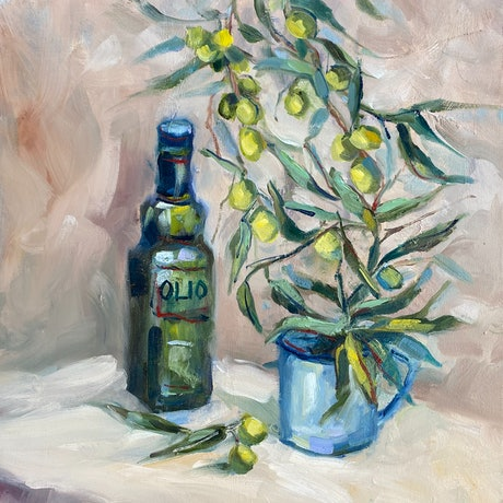 (CreativeWork) OLIO by Ivana Pinaffo. Oil Paint. Shop online at Bluethumb.