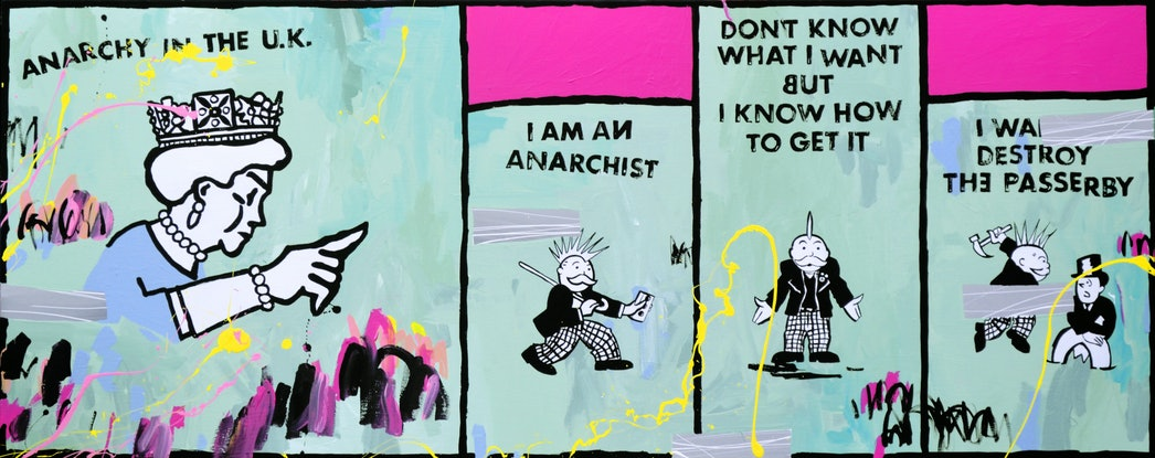 (CreativeWork) Anarchy in the UK  by Ben Tankard. Acrylic Paint. Shop online at Bluethumb.