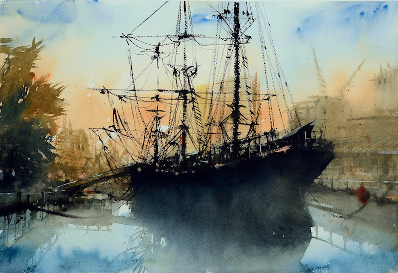 (CreativeWork) Polly Woodside, VIC by It Hao Pheh. Watercolour Paint. Shop online at Bluethumb.