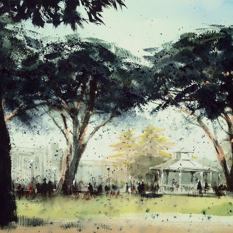 (CreativeWork) Mornington, VIC - 5 by It Hao Pheh. Watercolour Paint. Shop online at Bluethumb.