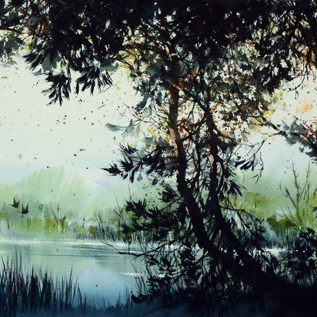 (CreativeWork) Healesville, VIC by It Hao Pheh. Watercolour Paint. Shop online at Bluethumb.