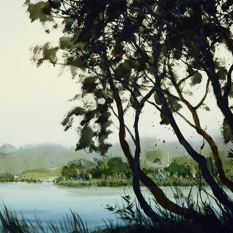 (CreativeWork) Healesville, VIC - 2 by It Hao Pheh. Watercolour Paint. Shop online at Bluethumb.