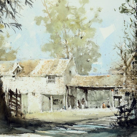 (CreativeWork) Montsalvat, VIC by It Hao Pheh. Watercolour Paint. Shop online at Bluethumb.